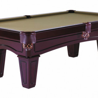 billiards table with cherry tapered legs