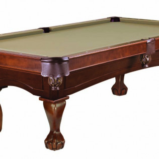billiards table with chestnut ball and claw leg