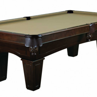 billiards table with espresso tapered leg
