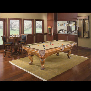 game room with billiards table